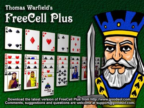 FreeCell Plus splash screen