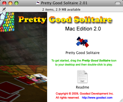 Pretty Good Solitaire Mac Edition 2.0